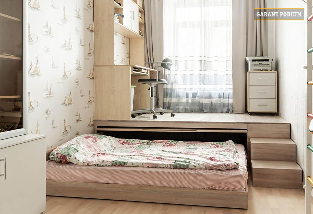 Детский подиум кровать