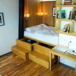 Подиум кровать с ящиками