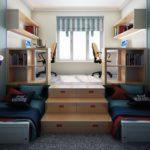 Подиум кровать со столом
