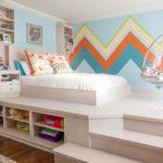 Подиум кровать в детской