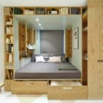 Подиум кровать в спальню